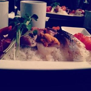 Gorgeously presented Chirashi from Joshu-ya Brasserie