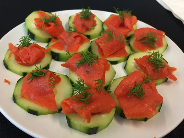 Smoked Salmon and Dill on Cucumber