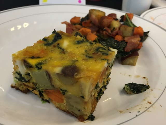 Fritatta with squash and greens
